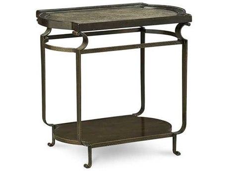 A.R.T. Furniture Continental Vintage Melange & Glazed Ingot 21''L x 29''W Rectangular End Table