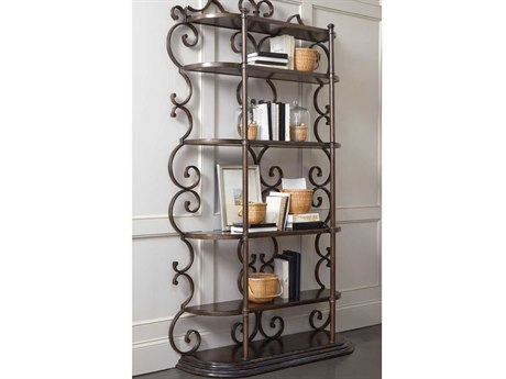 A.R.T. Furniture Continental Vintage Melange & Glazed Ingot Bookcase Etagere