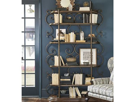 A.R.T. Furniture Continental Weathered Nutmeg & Glazed Ingot Bookcase Etagere
