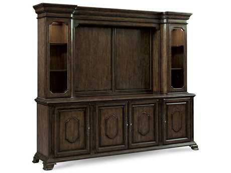 ART Furniture Continental Vintage Melange 99''L x 21''W Rectangular Entertainment Console & Deck