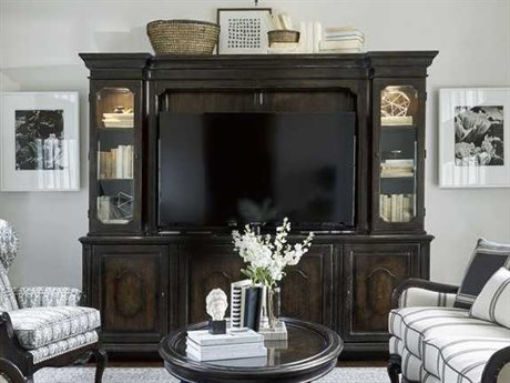 A.R.T. Furniture Continental Vintage Melange 99''L x 21''W Rectangular Entertainment Console & Deck