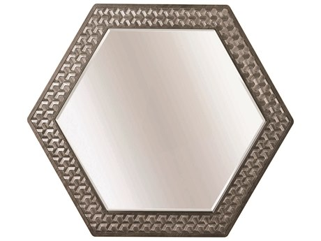 A.R.T Furniture Geode Kona and Facet 50''W x 43''H Citrine Wall Mirror