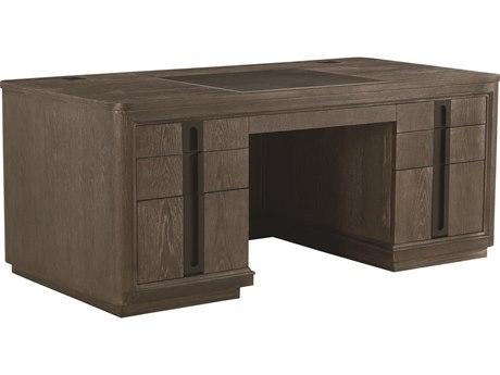A.R.T Furniture Geode Kona and Facet 72''L x 36''W Rectangular Tourmaline Executive Desk
