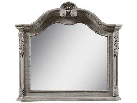 ART Furniture Renaissance Dove Grey with Silver Tipping 45''W x 41''H Landscape Wall Mirror