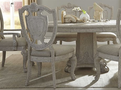 ART Furniture Renaissance Dove Grey with Silver Tipping Dining Side Chair