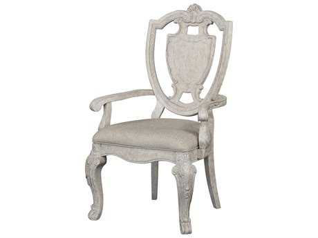 ART Furniture Renaissance Dove Grey with Silver Tipping Dining Arm Chair