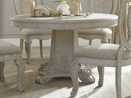 ART Furniture Renaissance Dove Grey with Silver Tipping 73.50'' Wide Round Dining Table