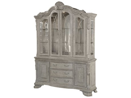 A.R.T. Furniture Renaissance Dove Grey with Silver Tipping China Cabinet