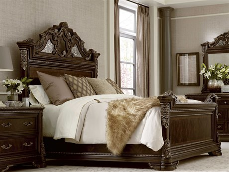 A.R.T. Furniture Gables 18th Century Cherry Queen Size Panel Bed