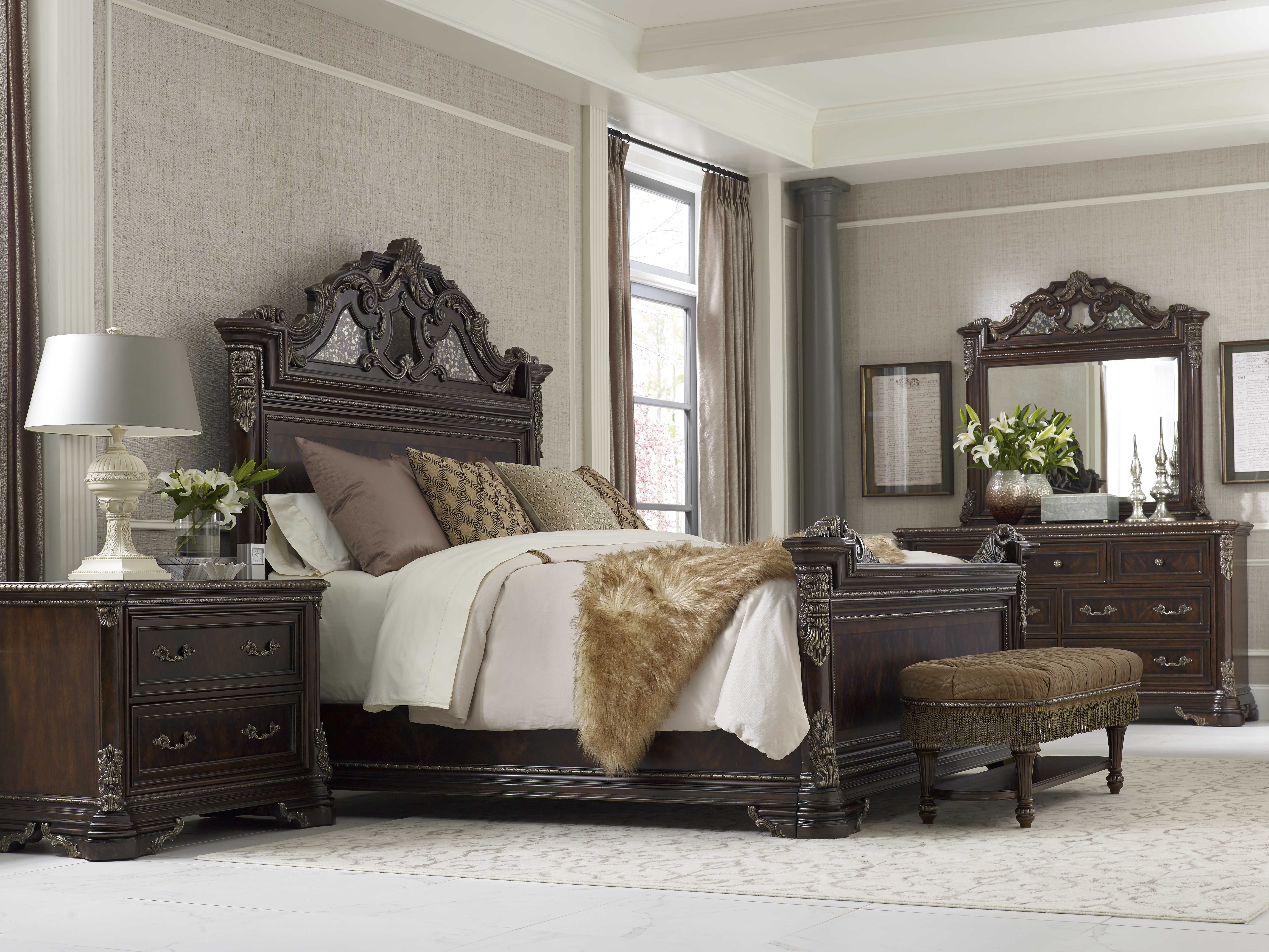 A r t furniture greenpoint oval dining table in coffee bean - A R T Furniture Gables Sleigh Bedroom Set