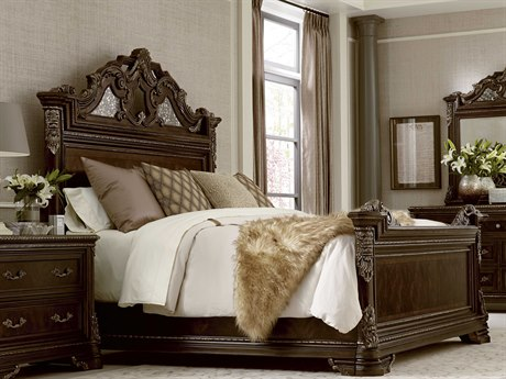 ART Furniture Gables 18th Century Cherry Eastern King Size Panel Bed