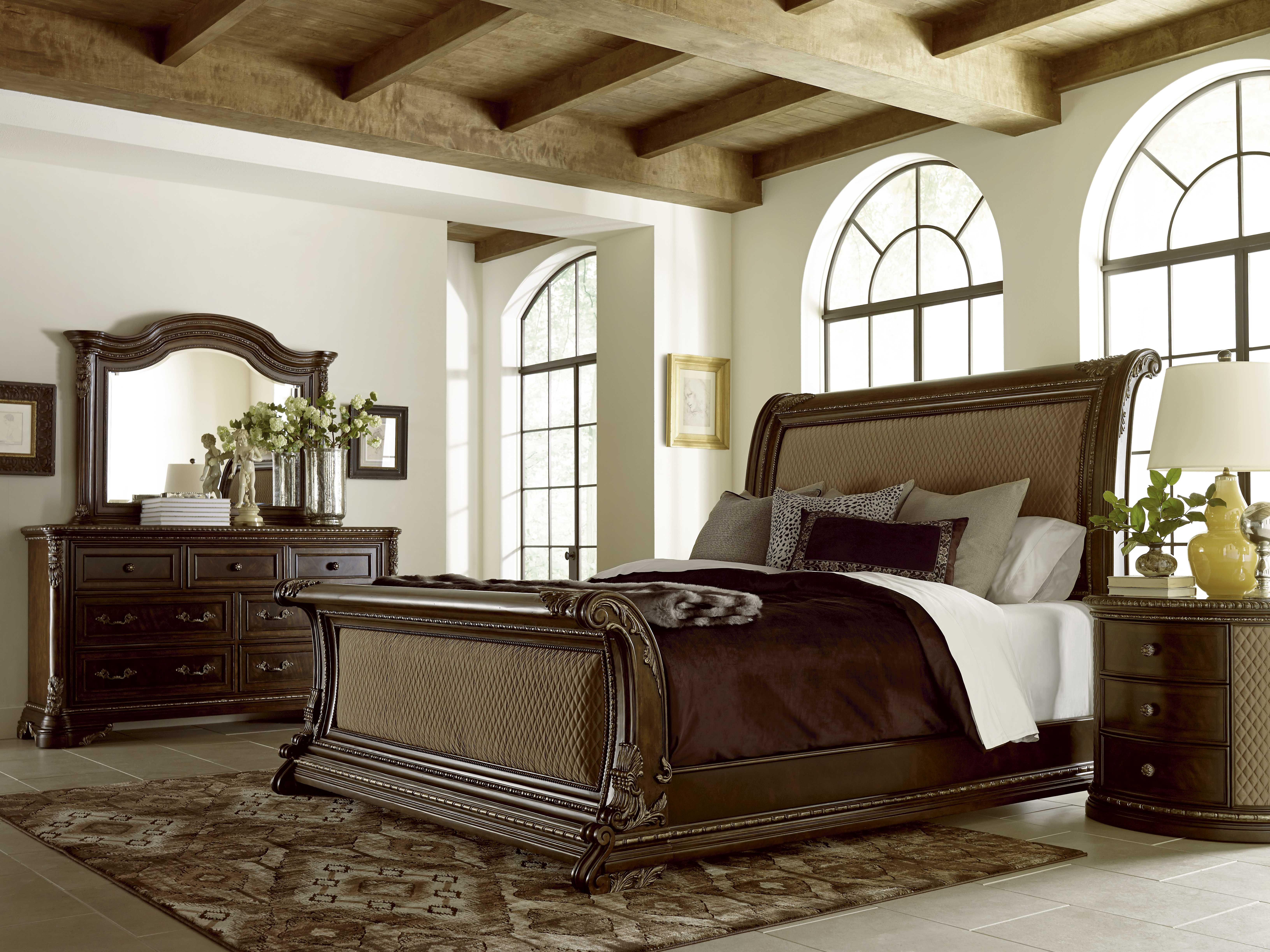white wooden bed sleigh louie polar new beds