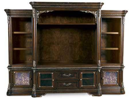 ART Furniture Gables 18th Century Cherry Entertainment Wall Center with Piers