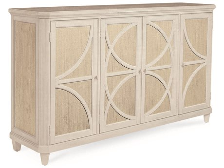 A.R.T. Furniture Roseline Sophie Stucco with Shimmer Accents 75''L x 19''W Rectangular Credenza