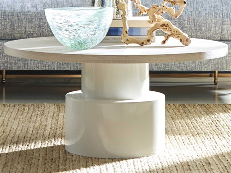 A.R.T. Furniture Epicenters Gray Wash/Gloss White 36'' Wide Round Coffee Table AT3313622840