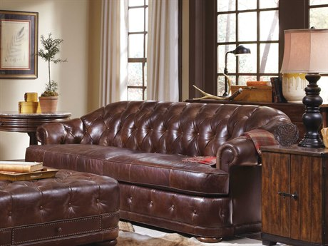 A.R.T. Furniture Kennedy Aged Leather Sofa