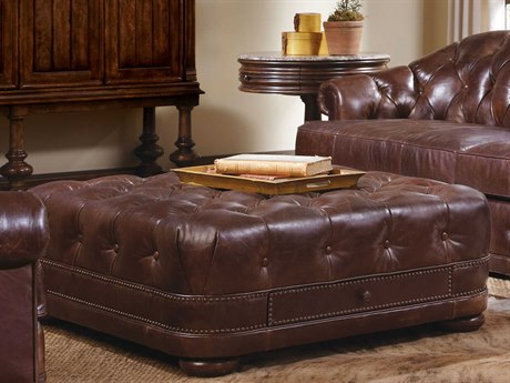A.R.T. Furniture Kennedy Aged Leather Storage Ottoman
