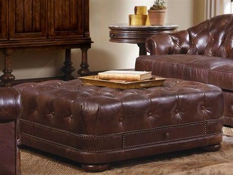 A.R.T. Furniture Kennedy Aged Leather Storage Ottoman