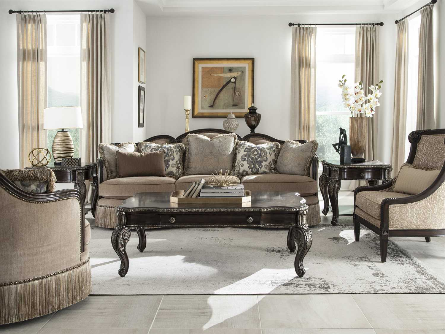 wonderful living room furniture chairs | A.R.T. Furniture Giovanna Azure Gables Accent Chair ...
