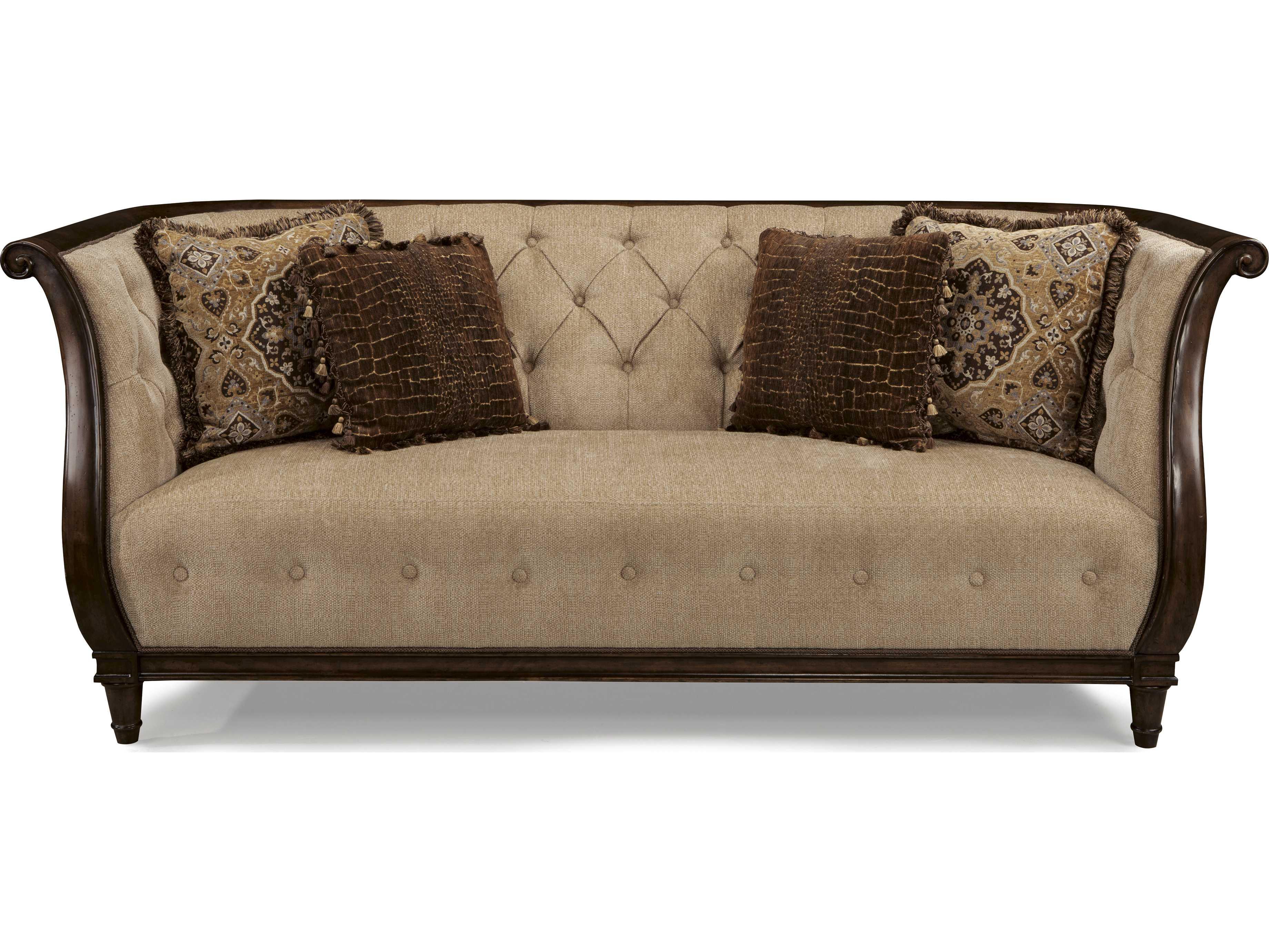 Art furniture ava rustic walnut melange beige tufted for Ava chaise lounge
