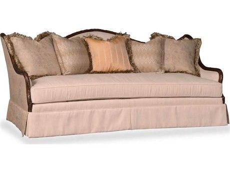 ART Furniture Ava Rustic Walnut & Paisley Jacquard Sofa