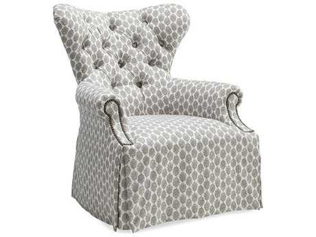 ART Furniture Ava Natural Grey Tufted Back Skirted Wing Accent Chair