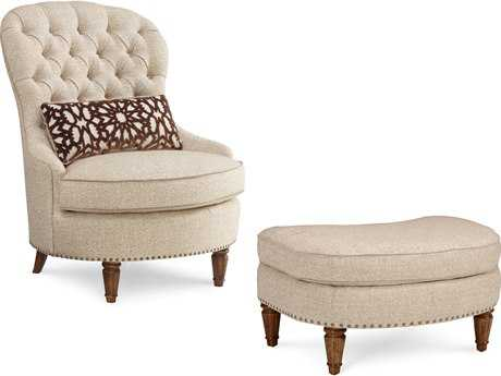 ART Furniture Collection One Chestnut Christiansen Tufted Accent Chair with Ottoman