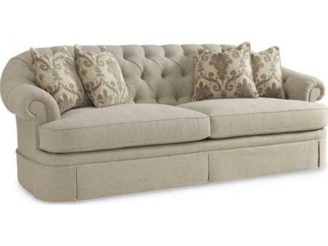 ART Furniture Collection One Light Beige Oxford Tufted Skirted Sofa