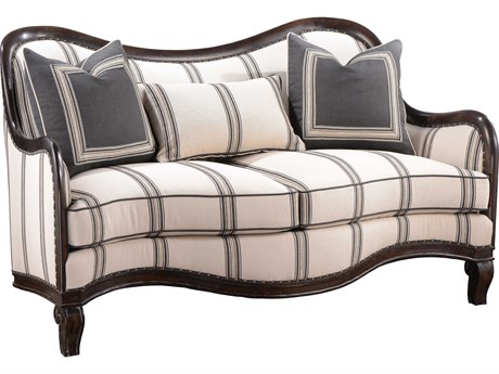 A.R.T. Furniture Empyrean Sky Melange Brown Craved Frame Loveseat