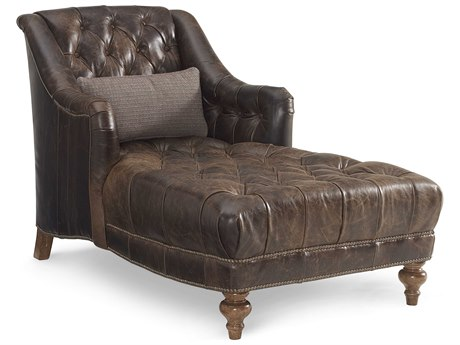ART Furniture The Foundry Natural Leather Chaise Lounge