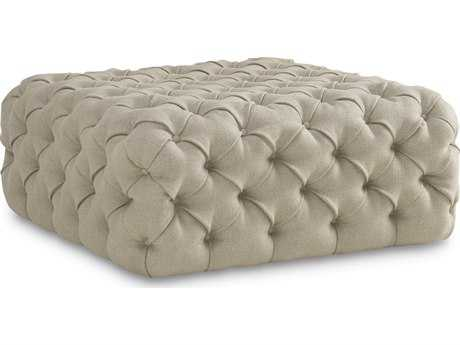 ART Furniture The Foundry Natural Leather Banks Tufted Ottoman