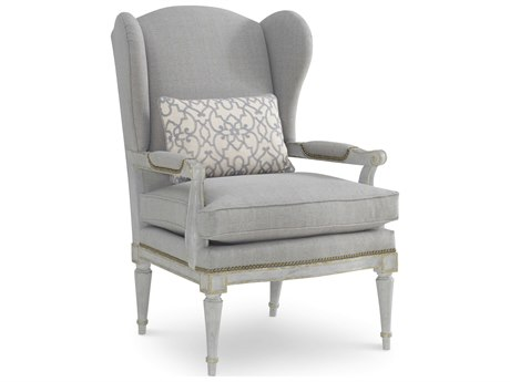 A.R.T. Furniture The Foundry Weathered Grey Wing Accent Chair
