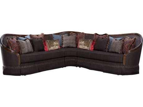 A.R.T. Furniture Gracious Living Bolet Deeper Brown Sectional Sofa