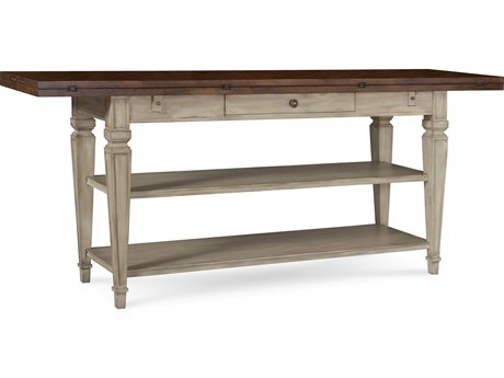 A.R.T. Furniture The Foundry Brownstone & Weathered Cream 74''L x 20''W Rectangular Flip Top Console Table