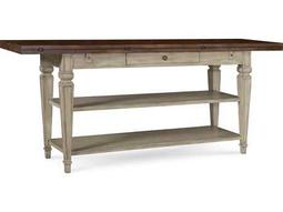 ART Furniture The Foundry Brownstone & Weathered Cream 74''L x 20''W Rectangular Flip Top Console Table