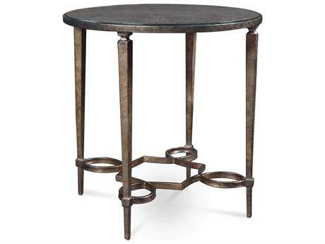 ART Furniture Marni Antique textured metal 24'' Wide Round End Table