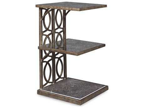 ART Furniture Marni Antique Textured Metal 18''L x 12''W Rectangular End Table
