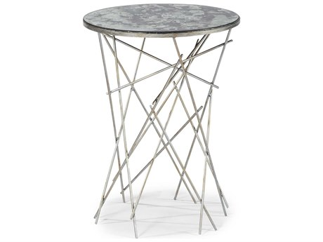 A.R.T. Furniture The Foundry Silver 16'' Wide Round End Table