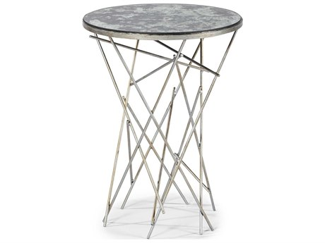 A.R.T. Furniture The Foundry Silver 14'' Wide Round End Table