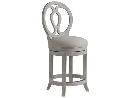 Artistica Home Axiom Bianco Swivel Counter Stool