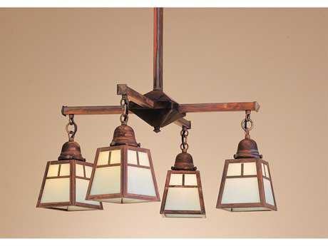 Arroyo Craftsman A-line Four-Light Chandelier