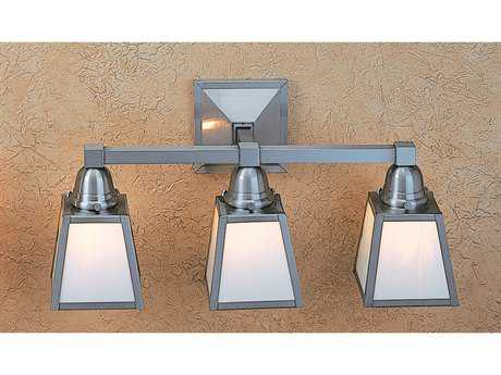 Arroyo Craftsman A-line Three-Light Outdoor Wall Sconce