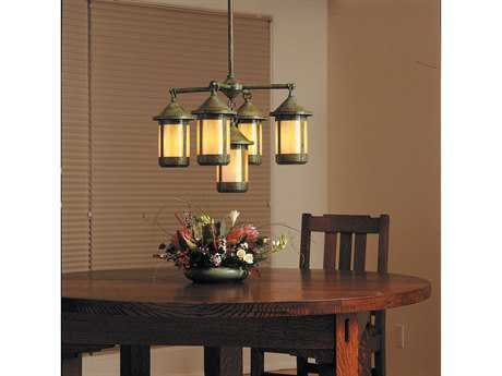 Arroyo Craftsman Berkeley Five-Light Chandelier