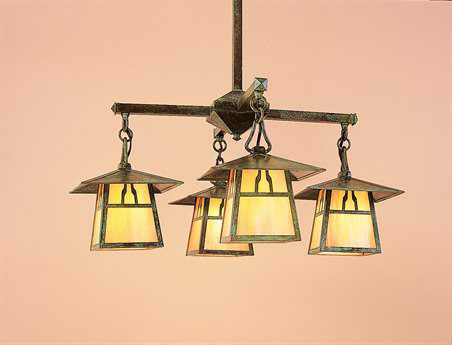 Arroyo Craftsman Carmel Four-Light 26'' Wide Chandelier