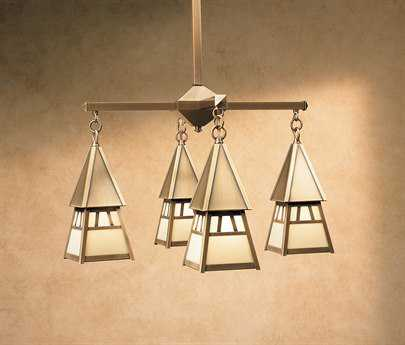 Arroyo Craftsman Dartmouth Four-Light 23'' Wide Chandelier