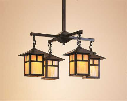 Arroyo Craftsman Evergreen Four-Light 25'' Wide Chandelier