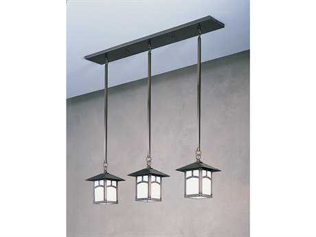 Arroyo Craftsman Evergreen Three-Light Island Light