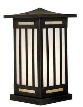 Arroyo Craftsman Himeji Satin Black Outdoor Column Mount