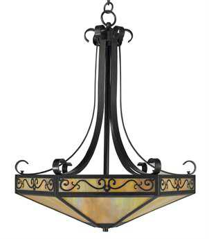 Arroyo Craftsman Lily Bronze Four-Light Pendant