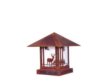 Arroyo Craftsman Timber Ridge Outdoor Column/Pier Mount Light